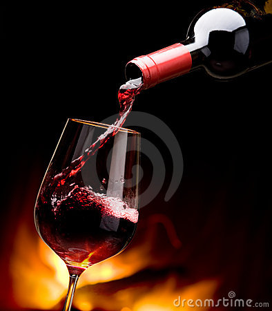 Vinho de derramamento pela chaminé