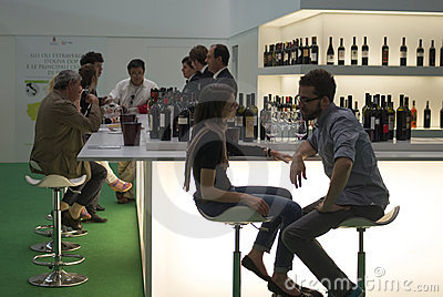 Vinitaly: International wine exhibition Editorial Stock Photo