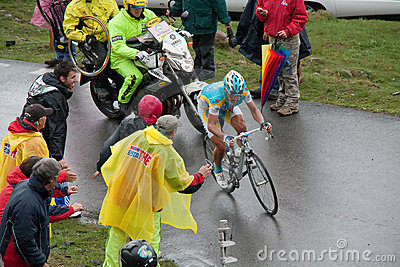 Vinokourov - Mortirolo Editorial Stock Photo