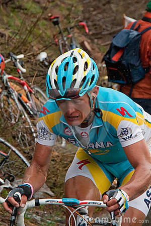 Vinokourov - Mortirolo Editorial Photo