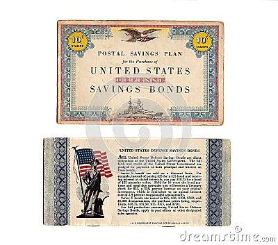 Vintage 1940 s Defense Bond Stamp Book