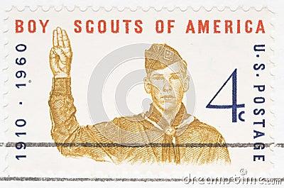 Vintage 1960 US stamp Boy Scouts