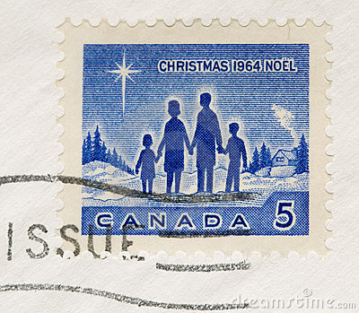 Vintage 1964 Postage Stamp Canada Christmas