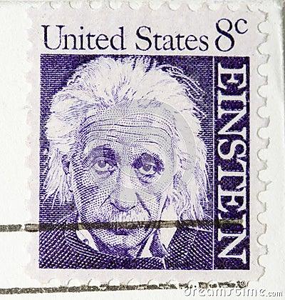 Vintage 1964  Stamp Albert Einstein