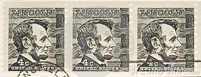 Vintage 1966 Stamp Lincoln Series