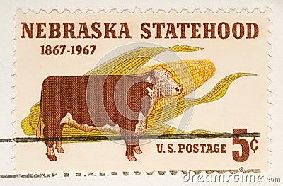Vintage 1967  Stamp Nebraska Statehood