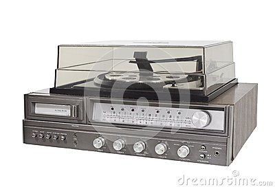 Vintage 1970s 8 Track Stereo Record Player