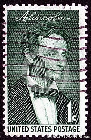 Vintage Abraham Lincoln stamp