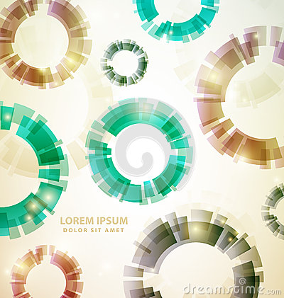 Vintage Abstract Colorful circles Background