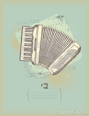 Free Vintage Accordion Stock Photography - 14242312