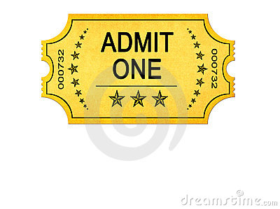Vintage Admit One Entrance Ticket Royalty Free Stock