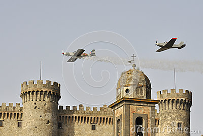 Vintage aircrafts flying Editorial Photography