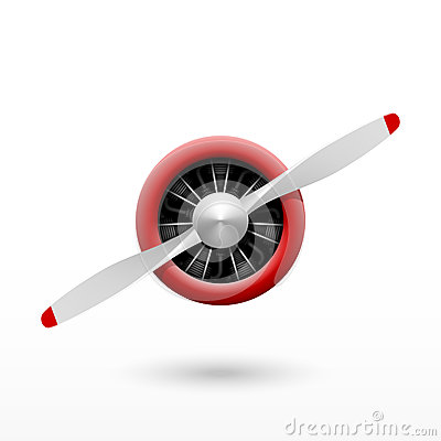 Free Vintage Airplane Propeller With Radial Engine Stock Photography - 45205432