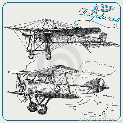 Free Vintage Airplanes Royalty Free Stock Photography - 23025897