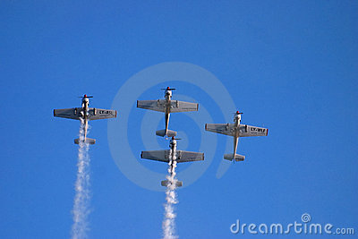 Vintage airplanes during show Editorial Photography