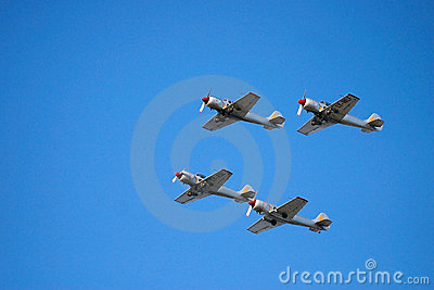 Vintage airplanes during show Editorial Stock Photo