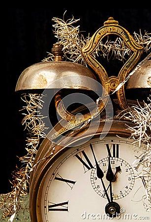 Free Vintage Alarm Clock On New Years Eve Royalty Free Stock Photo - 7069775