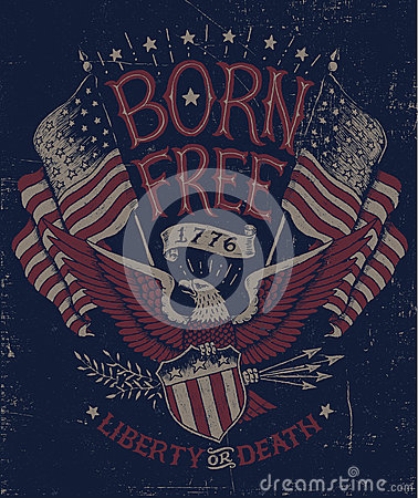 Free Vintage Americana Eagle Graphic Royalty Free Stock Image - 42181286