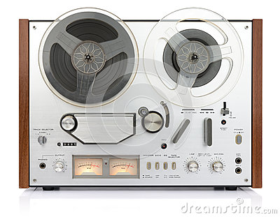 Vintage analog recorder reel to reel