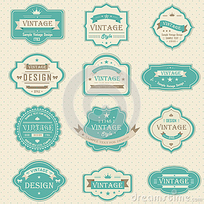 Free Vintage And Retro Badges Design With Sample Text ( Stock Photography - 40491402