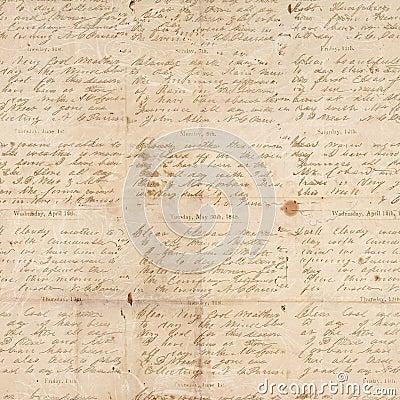 Vintage antigo papel textured dobrado com certificado