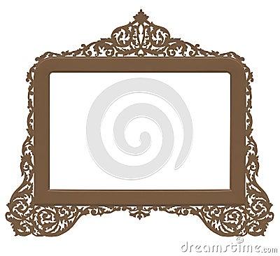Vintage antique brass frame