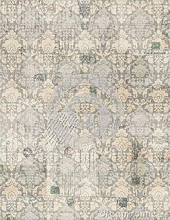 Free Vintage Antique Damask Scrapbook Paper Royalty Free Stock Image - 21746846