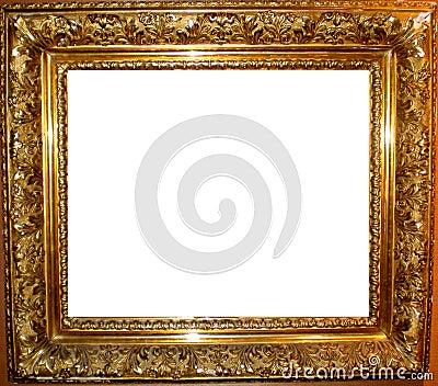 Vintage Antique Gold Frame Stock Photo Image 25936640