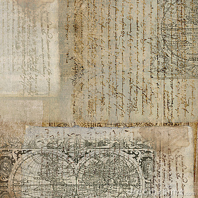 Vintage Antique Text Paper Background Royalty Free Stock