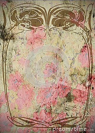 Vintage - Art Nouveau Grungy Scrapbook Frame