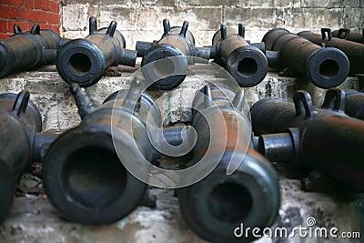 Vintage artillery gun