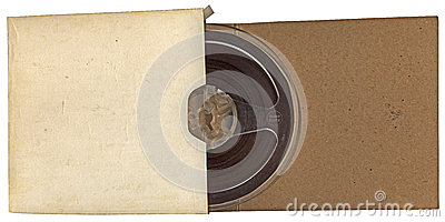 Vintage autio type roll in paper isolated,