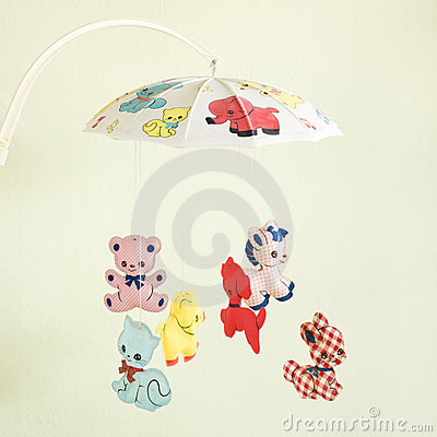 Free Vintage Baby Mobile. Royalty Free Stock Photos - 2425538