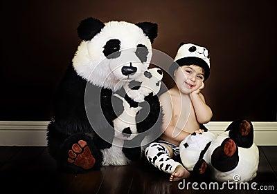 Vintage baby panda