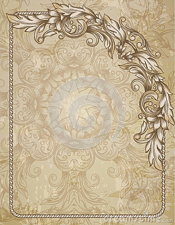 Vintage background royalty free stock image image 35966446 for Rococo decorative style