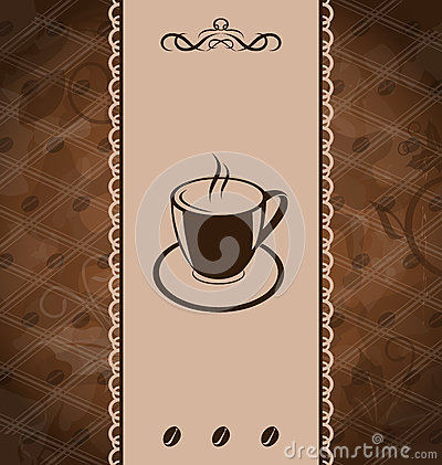 Vintage background for coffee menu