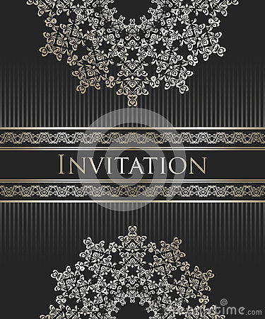 Vintage background with an elegant lace pattern