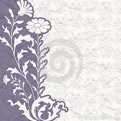 Vintage background for the invitation with flowers