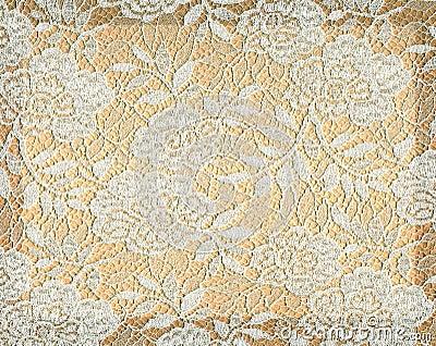 Gold Floral Wallpaper Vintage