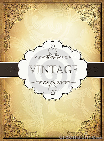 Vintage background with ornamental frame.
