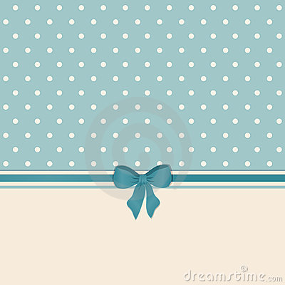 Vintage background with ribbon and bow