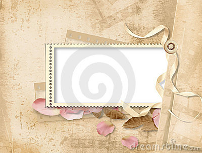 Vintage background with stamp-frames