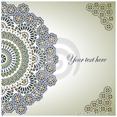 Free Vintage Background Traditional Ottoman Motifs. Royalty Free Stock Photos - 35750758