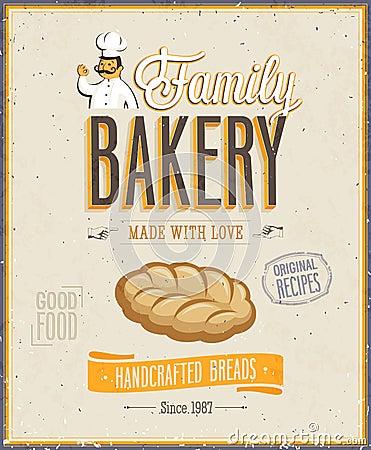 Vintage Bakery Poster.