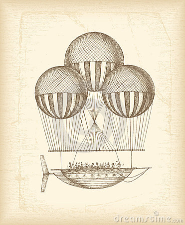 Vintage balloon sketch