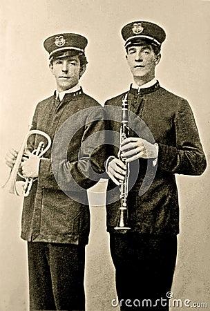 Vintage Band Members Photo