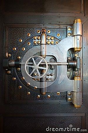 Free Vintage Bank Vault Door Safe Royalty Free Stock Photos - 50233678