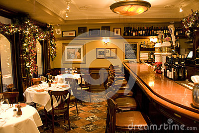 Vintage bar restaurant Editorial Photography