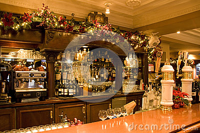 Vintage bar restaurant Editorial Stock Image