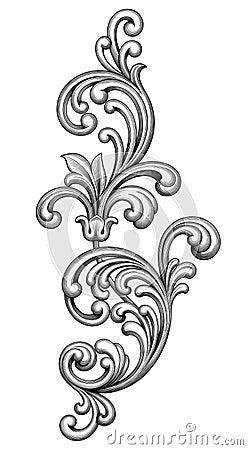 vintage baroque victorian frame border monogram floral ornament scroll engraved retro pattern. Black Bedroom Furniture Sets. Home Design Ideas
